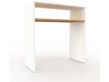 Table console - Blanc, design, pour chambre ou entrée élégante - 77 x 80 x 35 cm, personnalisable