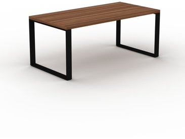 Bureau - Noyer, design contemporain, table de travail, fonctionnelle - 180 x 75 x 90 cm, modulable