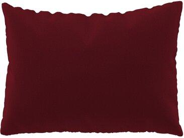 Coussin Rouge Cerise - 48x65 cm - Housse en Laine. Coussin de canapé moelleux