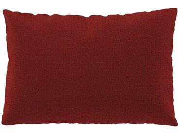 Coussin Orange Sanguine - 40x60 cm - Housse en Laine chinée. Coussin de canapé moelleux