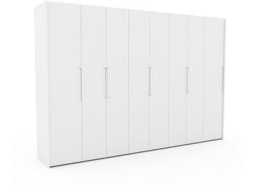Dressing - Blanc, design, armoire penderie pour chambre ou entrée, à portes battantes - 344 x 233 x 62 cm, modulable