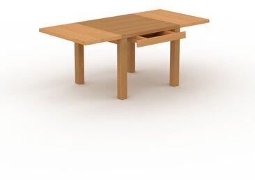 Table à manger extensible - Chêne, moderne, pour salle à manger ou cuisine, avec deux rallonges - 190 x 76 x 90 cm, personnalisable