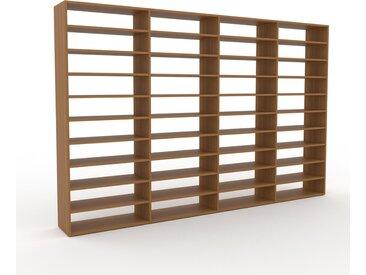 Bibliothèque - Chêne, design, étagère pour livres, sophistiquée, ouverte et fonctionelle - 301 x 195 x 35 cm, personnalisable