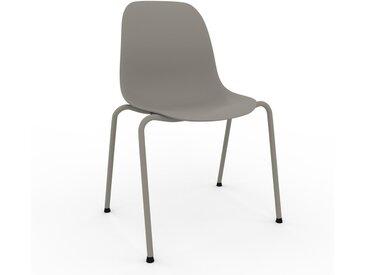 Chaise en bois Gris sable de 49 x 82 x 57 cm au design unique, configurable