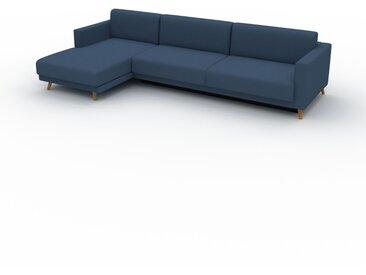 Canapé convertible - Bleu Océan, design épuré, canapé lit confortable, confortable avec coffre de rangement - 305 x 75 x 162 cm, modulable
