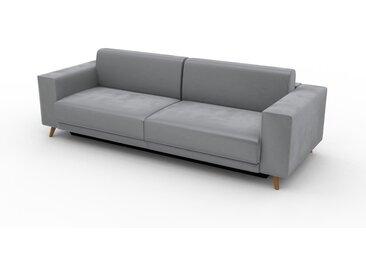 Canapé convertible Velours - Grège, design épuré, canapé lit confortable, confortable avec coffre de rangement - 248 x 75 x 98 cm, modulable