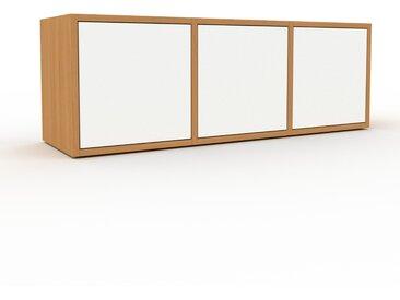 Buffet bas en chêne, bois massif, aspect intemporel et naturel, de qualité - 118 x 41 x 35 cm
