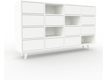 Enfilade - Blanc, contemporaine, buffet, avec tiroir Blanc - 156 x 91 x 35 cm, modulable