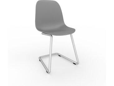 Chaise cantilever gris de 49 x 82 x 44 cm au design unique, configurable