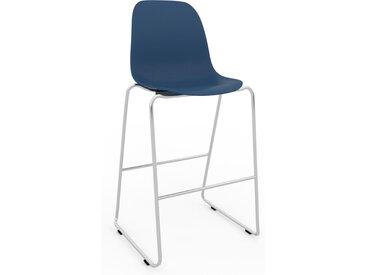 Chaise de bar Bleu marine de 49 x 112 x 58 cm au design unique, configurable