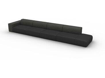 Canapé en U - Gris ardoise, design arrondi, canapé d'angle panoramique, grand, bas et confortable - 494 x 72 x 107 cm, modulable