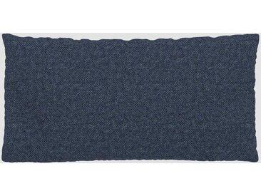 Coussin Bleu Denim - 40x80 cm - Housse en Laine chinée. Coussin de canapé moelleux
