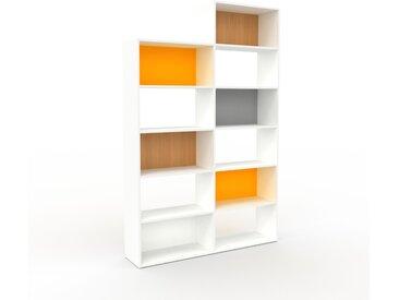 Bibliothèque - Blanc, design, étagère pour livres, sophistiquée, ouverte et fonctionelle - 152 x 233 x 35 cm, personnalisable
