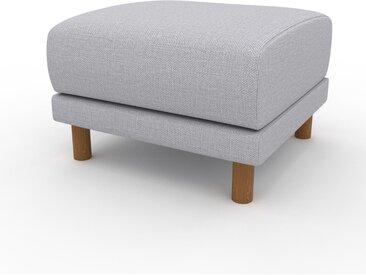 Pouf - Gris Clair, design épuré, 60 x 42 x 60 cm, modulable
