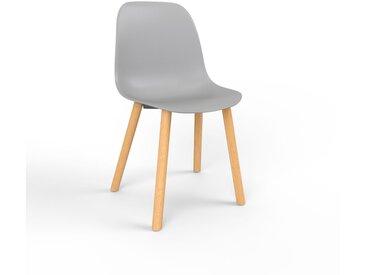 Chaise de salle à manger gris de 49 x 82 x 43 cm au design unique, configurable