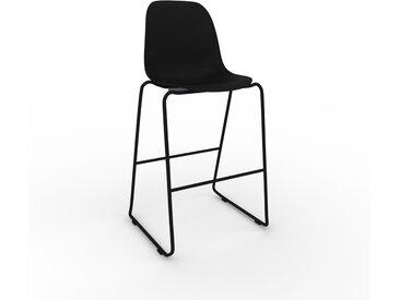 Chaise de bar noir de 49 x 112 x 58 cm au design unique, configurable