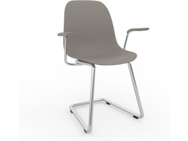 Chaise cantilever Gris sable de 49 x 82 x 62 cm au design unique, configurable