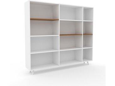 Meuble de rangements - Blanc, design minimaliste, pour documents sophistiqué, fontionnel et robuste - 190 x 168 x 35 cm, personnalisable