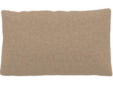 Coussin Beige Cachemire - 30x50 cm - Housse en Laine. Coussin de canapé moelleux
