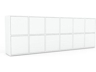 Enfilade - Blanc, modèle de caractère, buffet, avec porte Blanc - 233 x 80 x 35 cm, modulable