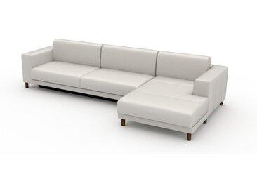 Canapé convertible - Blanc, design épuré, canapé lit confortable, confortable avec coffre de rangement - 328 x 75 x 162 cm, modulable