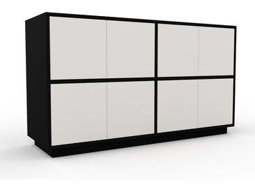 Meuble de rangements - Blanc, moderne, pour documents, avec porte Blanc - 152 x 85 x 47 cm, personnalisable
