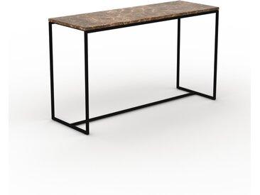 Table basse en marbre Marron Emperador, design contemporain, bout de canapé luxueux et sophistiqué - 121 x 71 x 42 cm, personnalisable