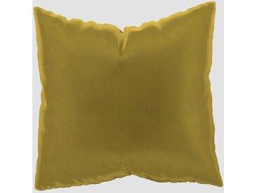 Coussin Jaune Colza - 50x50 cm - Housse en Velours. Coussin de canapé moelleux