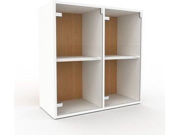 Vitrine - Verre clair transparent, moderne, pour documents, avec porte Verre clair transparent - 79 x 80 x 35 cm, personnalisable