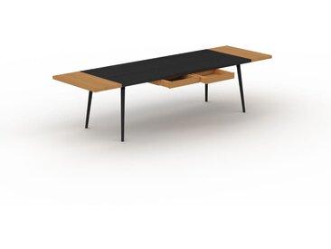 Table à manger - Wengé, design scandinave, pour salle à manger ou cuisine nordique, table extensible à rallonge - 300 x 75 x 90 cm