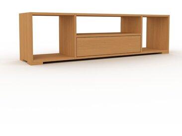 Buffet bas - Chêne, modèle tendance, rangements bas sophistiqué, avec tiroir Chêne - 154 x 43 x 35 cm, modulable