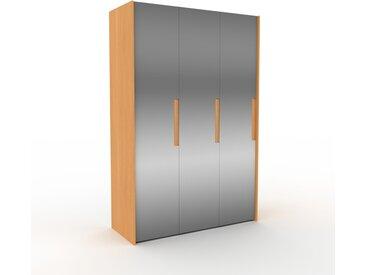 Dressing - Miroir, design, armoire penderie pour chambre ou entrée, à portes battantes - 154 x 233 x 62 cm, modulable