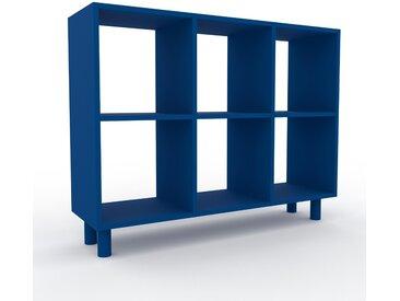 Range CD - Bleu marine, design contemporain, meuble pour vinyles, DVD - 118 x 91 x 35 cm, personnalisable