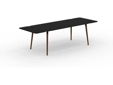 Bureau scandinave - Noir, design moderne, table de travail nordique, avec pieds inclinés et épurés - 260 x 75 x 90 cm, modulable
