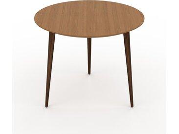 Table basse - Chêne, ronde, design scandinave, petite table pour salon élégante - 60 x 50 x 60 cm, personnalisable