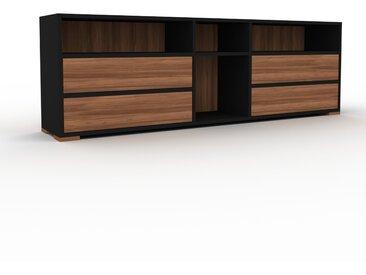 Enfilade - Noir, contemporaine, buffet, avec tiroir Noyer - 190 x 62 x 35 cm, modulable