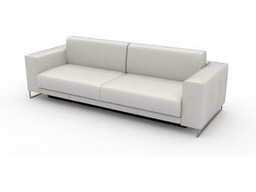 Canapé en cuir - Blanc Cuir Pigmenté, lounge, esprit club ou cosy avec toucher chaleureux, 248x 75 x 98 cm, modulable