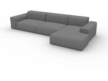 Canapé convertible - Gris Taupe, design arrondi, canapé lit confortable, moelleux et lit confortable - 345 x 72 x 168 cm, modulable