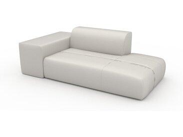 Canapé en cuir - Blanc Cuir Pigmenté, lounge, esprit club ou cosy avec toucher chaleureux - 208 x 72 x 107 cm, modulable