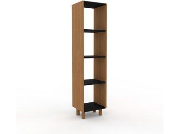 Range CD - Chêne, design contemporain, meuble pour vinyles, DVD - 41 x 168 x 35 cm, personnalisable