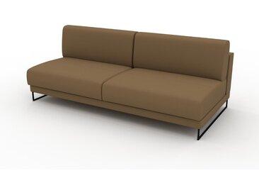 Canapé en cuir - Noix Cuir Nubuck, lounge, esprit club ou cosy avec toucher chaleureux, 200x 75 x 98 cm, modulable