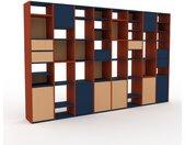 Bibliothèque - Hêtre, design contemporain, avec porte Hêtre et tiroir Hêtre - 310 x 195 x 35 cm