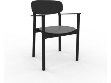 Chaise avec accoudoirs gris de 52 x 82 x 58 cm au design unique, configurable