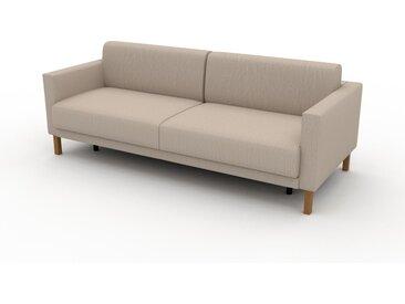 Canapé convertible - Blanc Crème, design épuré, canapé lit confortable, confortable avec coffre de rangement - 224 x 81 x 98 cm, modulable
