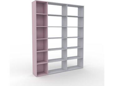 Bibliothèque - Rose poudré, design, étagère pour livres, sophistiquée, ouverte et fonctionelle - 190 x 233 x 35 cm, personnalisable