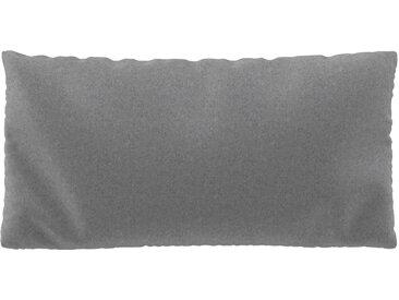 Coussin Gris Gravier - 40x80 cm - Housse en Laine. Coussin de canapé moelleux