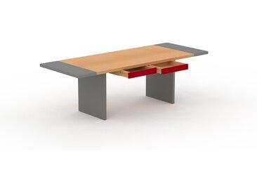 Table à manger extensible - Hêtre, moderne, pour salle à manger ou cuisine, avec deux rallonges - 240 x 75 x 90 cm, personnalisable