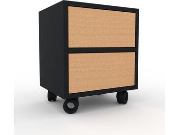 Table de chevet - Hêtre, contemporaine, table de nuit, avec tiroir Hêtre - 41 x 49 x 35 cm, modulable