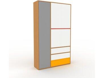 Armoire - Blanc, design, pour documents, avec porte Blanc et tiroir Blanc - 116 x 195 x 35 cm