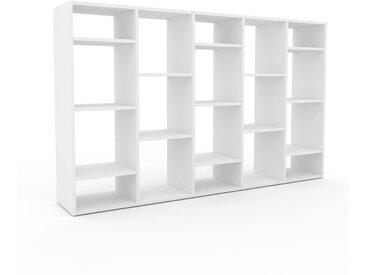 Range CD - Blanc, design contemporain, meuble pour vinyles, DVD - 195 x 118 x 35 cm, personnalisable